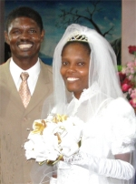 Pastor Pierre Banes Lauurore and his beautiful wife Madam Pastor Nehemie