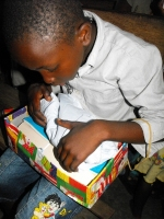 The United Caribbean Trust Make Jesus Smile shoebox project was taken into Tjaikondre to bless the Maroon children as part of the Suriname Child Sponsorship Program.