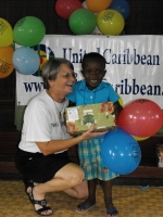 United Caribbean Trust Make Jesus Smile shoebox project was taken into Victoria to bless the Maroon children