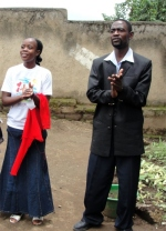 Seen here at House of Freedom Tanzania with his wife Stella outside the church.
