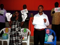 On the fourth day of training he was actively involved in the Children's Evangelism training of the FunTastic Fun Fair.
