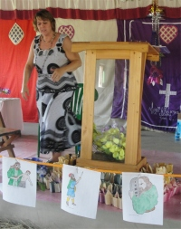 Pastor Laura during her Africa 2011 Mission Trip in Uganda