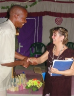 The curriculums, the first ever given out in Swahili were well received with thanksgiving.