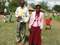 Pastor Paul pictured here with Sarah the Busia KIMI Coordinator,