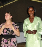 Pastor Laura teaching here with Sarah her Busia KIMI Coordinator