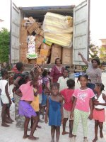 Praise God the container arrived in Haiti and the orphans danced for joy!